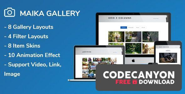 Download Maika v1.16 – Gallery Plugin for WordPress Free / Nulled