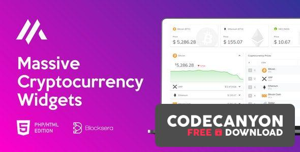 Download Massive Cryptocurrency Widgets – PHP/HTML Edition v1.3.1 Free / Nulled