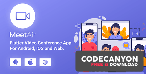Download MeetAir v1.0.4 – iOS and Android Video Conference App for Live Class, Meeting, Webinar, Online Training (Nulled) Free / Nulled