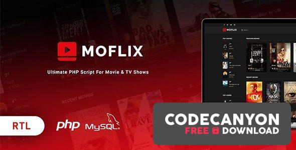 Download MoFlix v1.0.5 – Ultimate PHP Script For Movie & TV Shows Free / Nulled