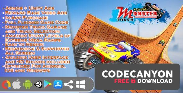 Download Monster Truck Stunt Game Unity 3d 1.0 Free / Nulled
