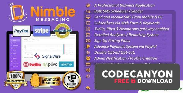 Download Nimble Messaging v2.5.1 – Professional SMS Marketing Application For Business (Nulled) Free / Nulled