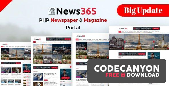 Download News365 v6 – PHP Newspaper Script Magazine Blog with Video Newspaper (Nulled) Free / Nulled