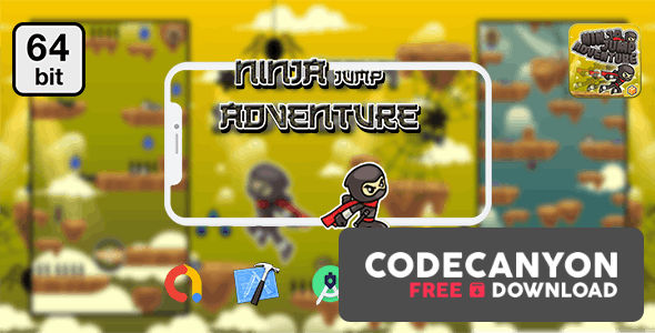 Download Ninja Jump Adventure 64 bit v1.0 – Android IOS With Admob Free / Nulled