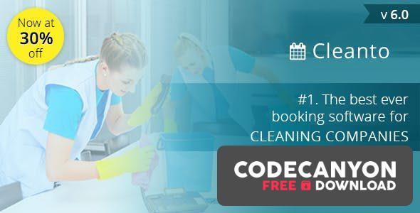 Download Cleanto v6.5 – Online bookings management system for maid services and cleaning companies Free / Nulled