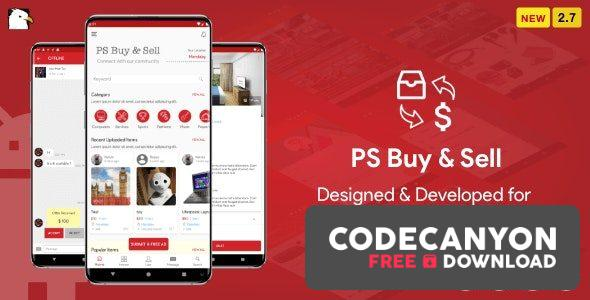 Download PS BuySell v3.0 – ( Olx, Mercari, Offerup, Carousell, Buy Sell ) Clone Classified App Free / Nulled