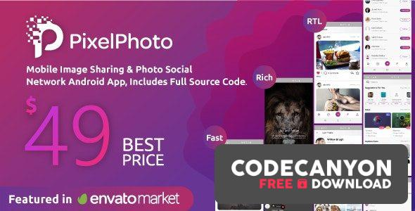Download PixelPhoto Android v1.10 – Mobile Image Sharing & Photo Social Network Application Free / Nulled