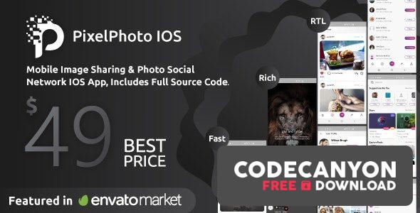 Download PixelPhoto IOS v1.0.4 – Mobile Image Sharing & Photo Social Network Free / Nulled