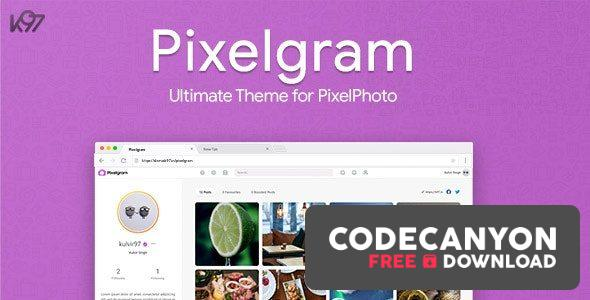 Download Pixelgram v1.4.1 – The Ultimate PixelPhoto Theme Free / Nulled