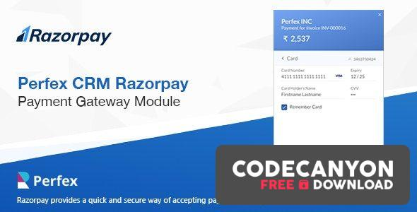 Download Razorpay Payment Gateway for Perfex CRM v1.0 Free / Nulled