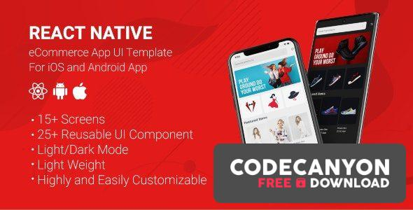 Download React Native Store UI Template v1.0 Free / Nulled
