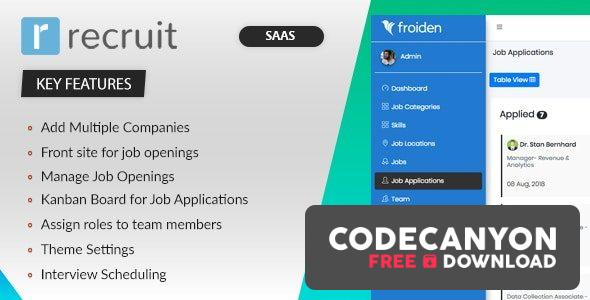 Download Recruit SAAS v3.3.4 – Recruitment Manager (Nulled) Free / Nulled