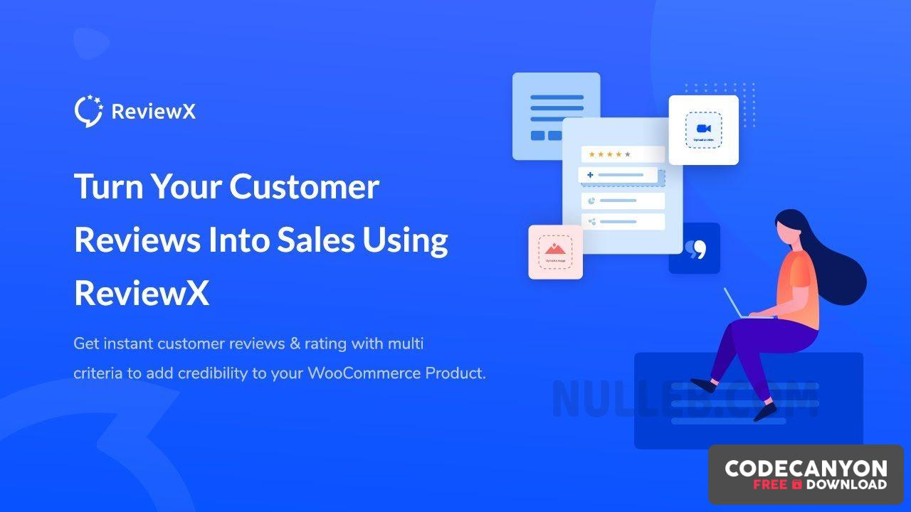 Download ReviewX Pro v1.1.4 – Multi-criteria Rating & Reviews for WooCommerce (Nulled) Free / Nulled