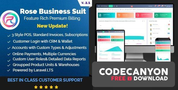 Download Rose Business Suite v2.1 – Accounting, CRM and POS Software Free / Nulled
