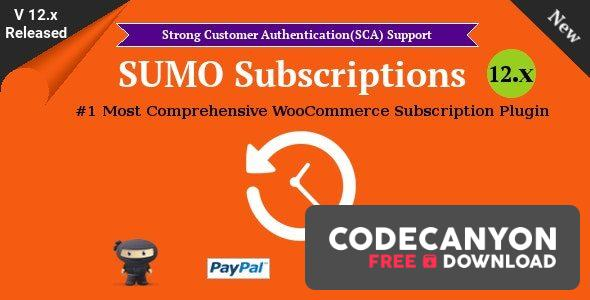 Download SUMO Subscriptions v12.3 – WooCommerce Subscription System Free / Nulled