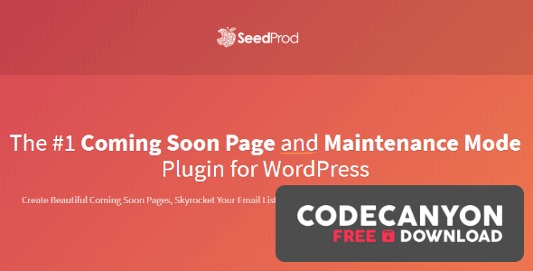 Download SeedProd Coming Soon Page Pro v6.0.10.0 (Nulled) Free / Nulled