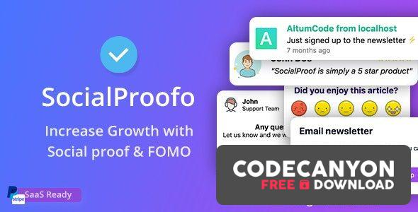 Download SocialProofo v1.8.1 – 14+ Social Proof & FOMO Notifications for Growth (SaaS Platform) (Nulled) Free / Nulled