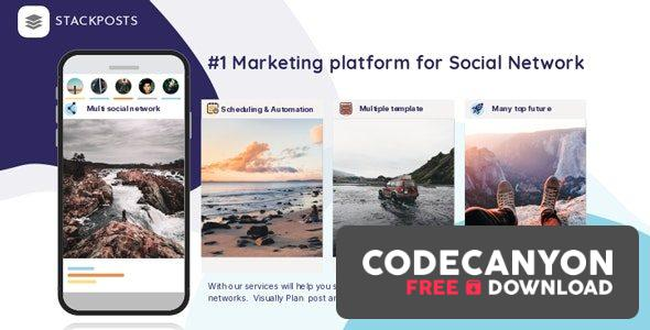 Download Stackposts v7.0.5 – Social Marketing Tool + Modules (Nulled) Free / Nulled