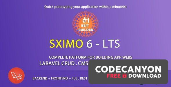 Download Sximo v6.2 – Laravel Multi Purpose Application – CRUD – CMS Free / Nulled