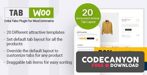 Download TabWoo v1.0.6 – Custom Product Tabs for WooCommerce Free / Nulled