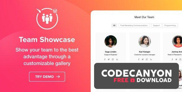 Download Team Showcase v1.3.1 – WordPress plugin Free / Nulled