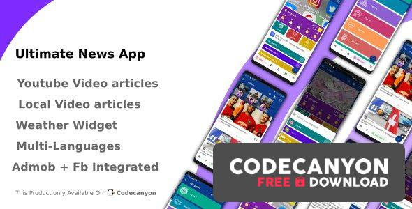 Download Ultimate News App (Video,Youtube,Weather,Survey) v2.2 Free / Nulled