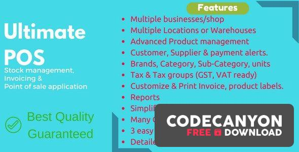 Download Ultimate POS v3.7 – Best Advanced Stock Management, Point of Sale & Invoicing application (Nulled) Free / Nulled