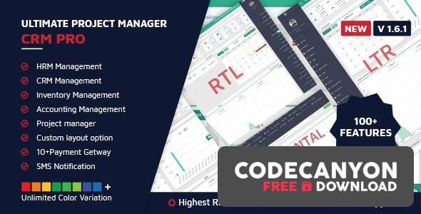 Download Ultimate Project Manager CRM PRO v1.6.1 (Nulled) Free / Nulled