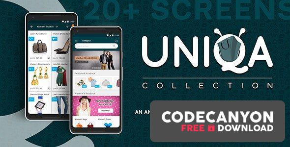Download Uniqa – An android eCommerce app with admin panel (30 September 2020) Free / Nulled