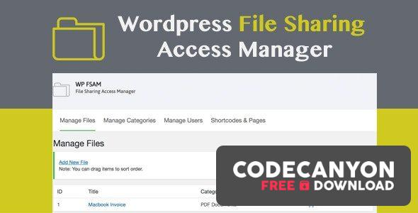 Download WP FSAM v1.2 – File Sharing Access Manager Free / Nulled