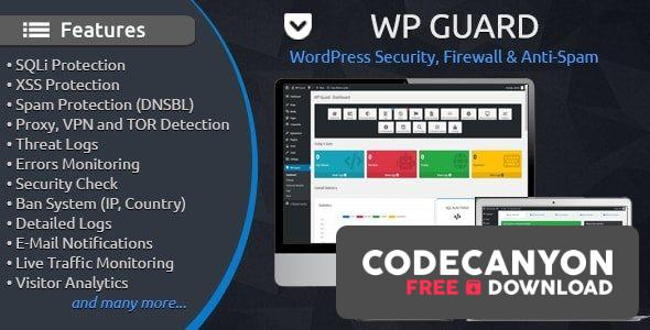 Download WP Guard v1.5 – Security, Firewall & Anti-Spam plugin for WordPress Free / Nulled
