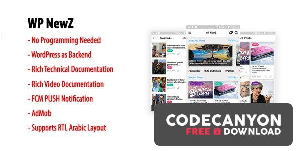 Download WP NewZ v1.8 – WordPress to Android News App Free / Nulled