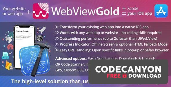 Download WebViewGold for iOS v8.0 – WebView URL/HTML to iOS app + Push, URL Handling, APIs & much more! Free / Nulled