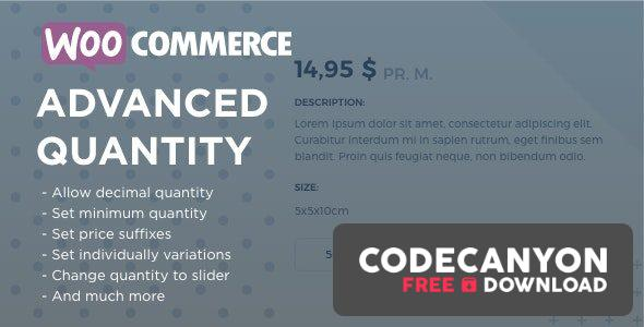 Download WooCommerce Advanced Quantity v3.0.3 Free / Nulled