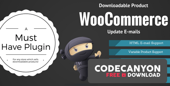 Download WooCommerce Downloadable Product Update E-mails v2.0.3 Free / Nulled