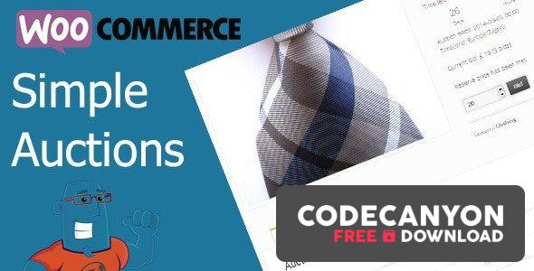 Download WooCommerce Simple Auctions v1.2.40 – WordPress Auctions Free / Nulled