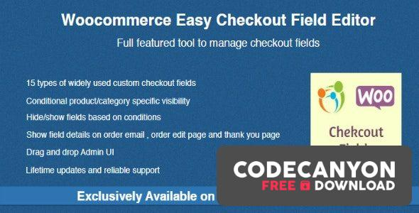 Download Woocommerce Easy Checkout Field Editor v2.2.4 Free / Nulled