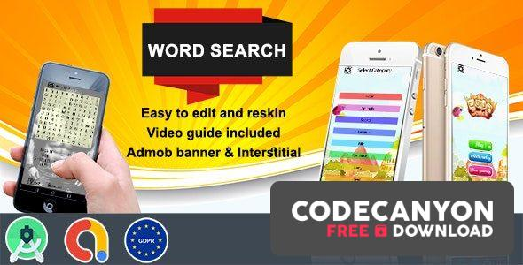 Download Word Search (Admob + GDPR + Android Studio) (26 august 2020) Free / Nulled