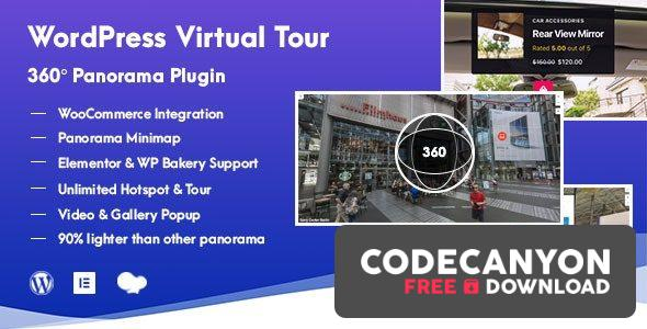 Download WordPress Virtual Tour 360 Panorama Plugin v1.0.5 Free / Nulled