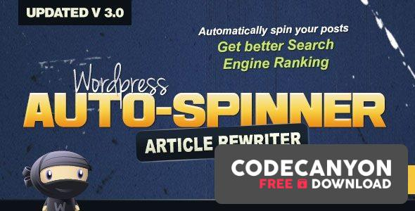 Download WordPress Auto Spinner v3.7.6 – Articles Rewriter Free / Nulled