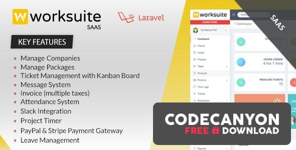 Download Worksuite Saas v3.6.9 – Project Management System (Nulled) Free / Nulled