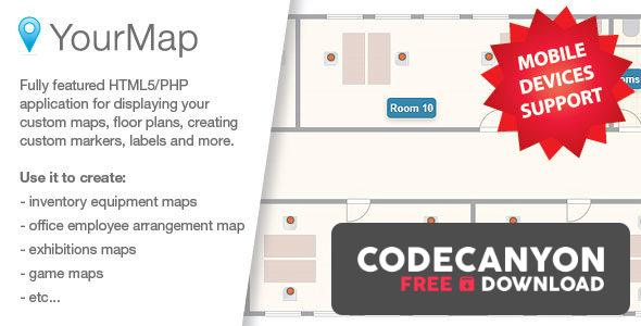 Download YourMap v1.12.2 – customizable maps with back-end panel Free / Nulled