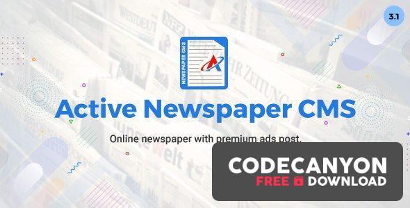 Download Active Newspaper CMS v3.1 (Nulled) Free / Nulled