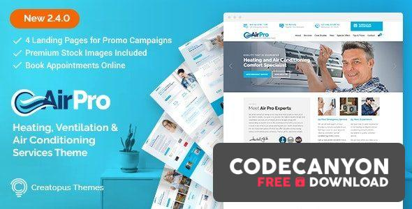 Download AirPro v2.6.6 – Heating and Air conditioning WordPress Theme for Maintenance Services Free / Nulled
