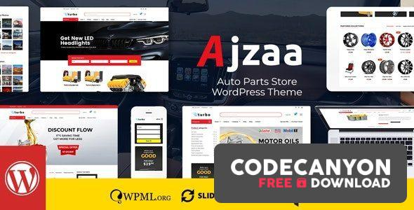 Download Ajzaa v2.8 – Auto Parts Store WordPress Theme Free / Nulled