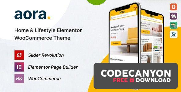 Download Aora v1.0.6 – Home & Lifestyle Elementor WooCommerce Theme Free / Nulled
