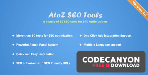 Download AtoZ SEO Tools v2.7 – Search Engine Optimization Tools Free / Nulled