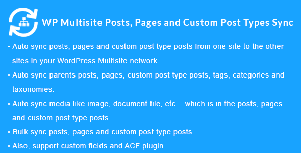 Download WordPress Multisite Posts, Pages and Custom Post Type Posts Sync v1.4.0 - WP Plugin Free / Nulled