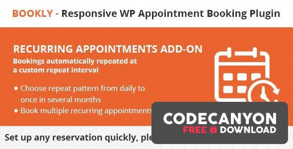Download Bookly Recurring Appointments (Add-on) v3.6 Free / Nulled
