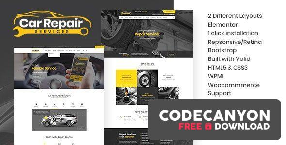 Download Car Repair Services v3.8 – Auto Mechanic WordPress Theme + RTL Free / Nulled